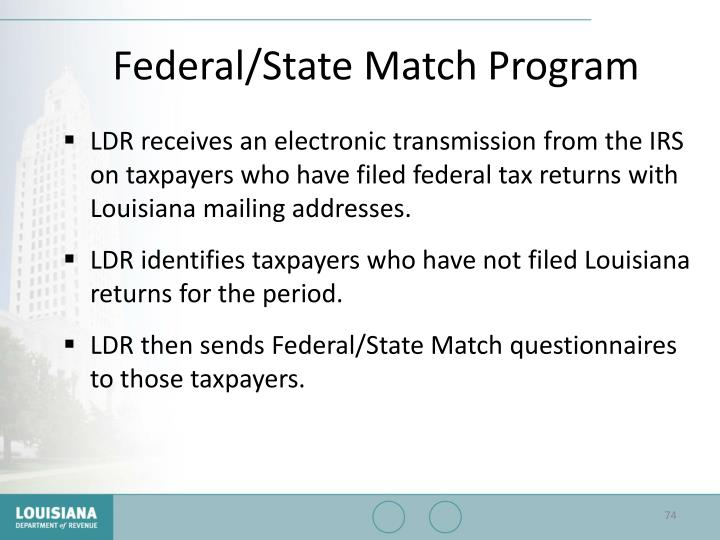 Federal/State Match Program