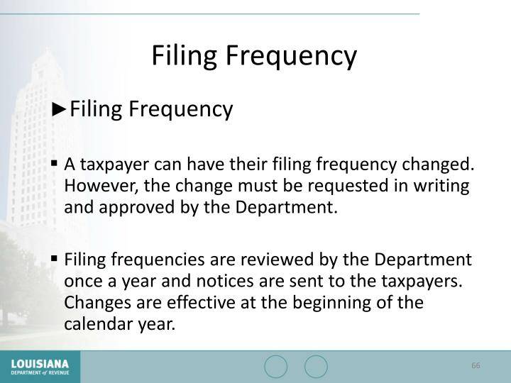 Filing Frequency
