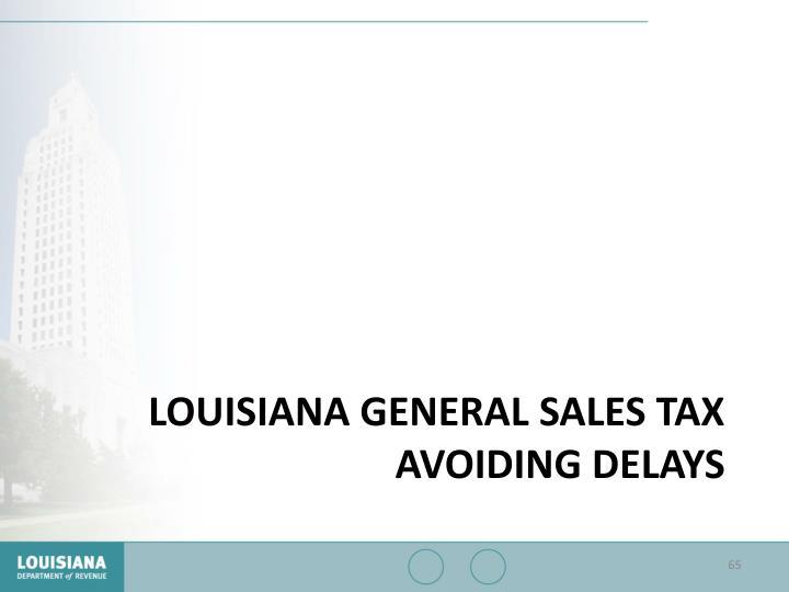 Louisiana General Sales Tax