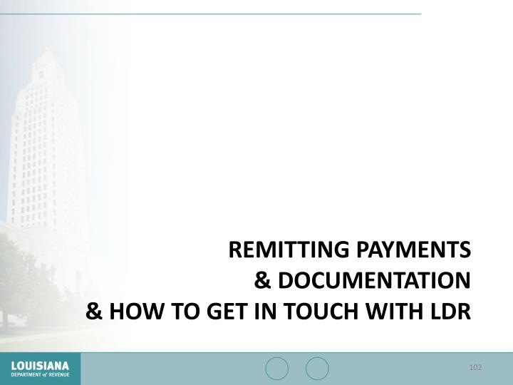 Remitting Payments