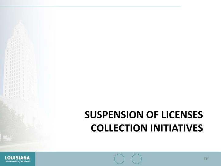 Suspension of Licenses