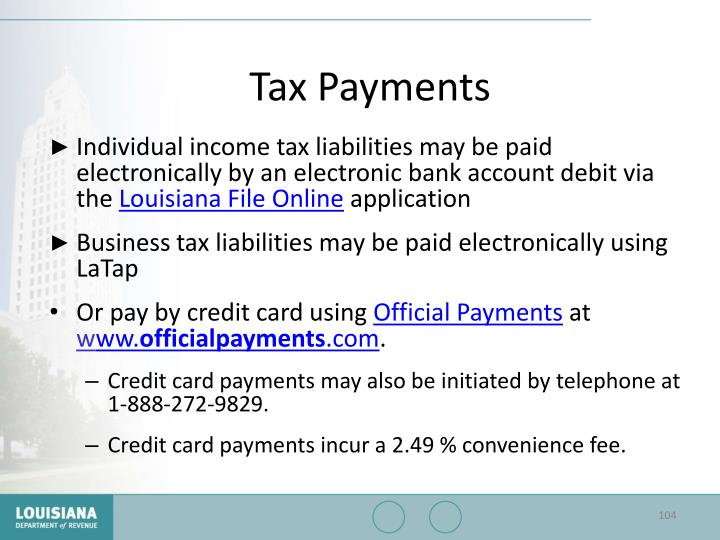 Tax Payments