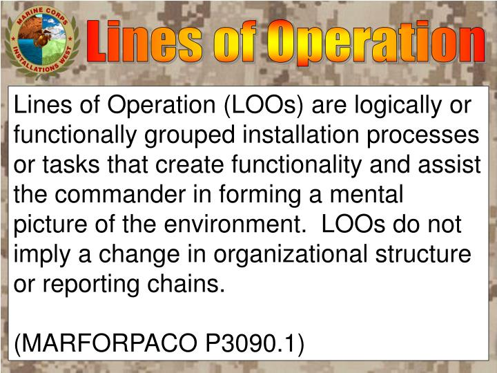Lines of Operation
