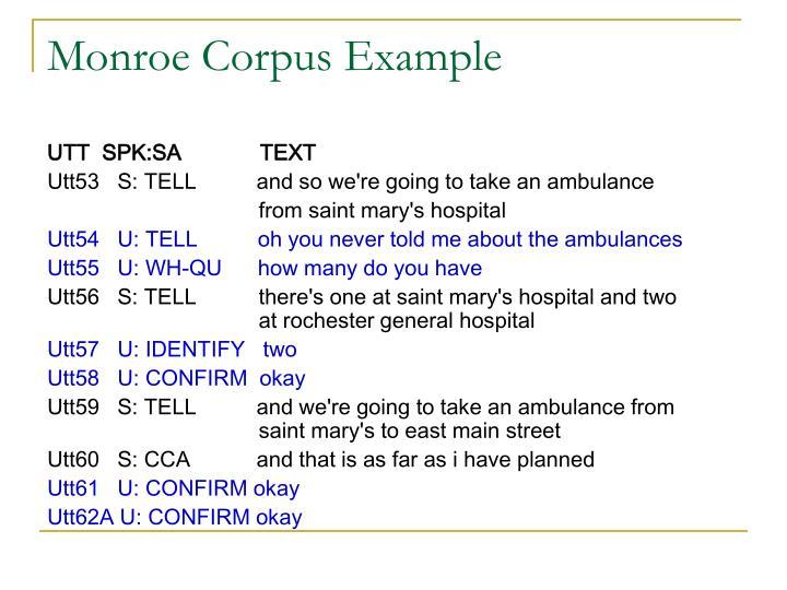 Monroe Corpus Example