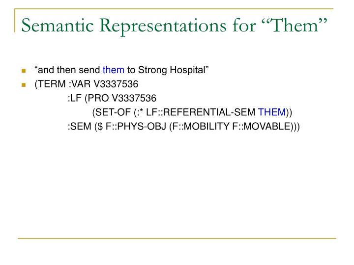 "Semantic Representations for ""Them"""