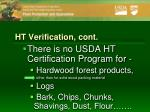 ht verification cont