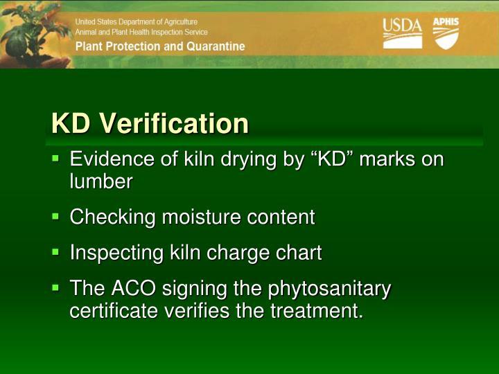 KD Verification