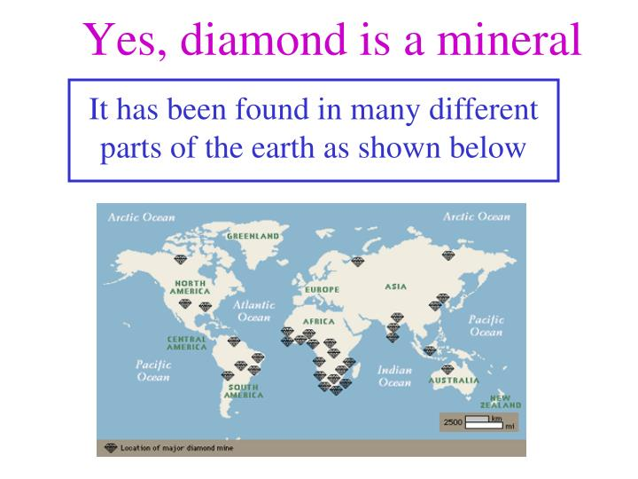 Yes, diamond is a mineral