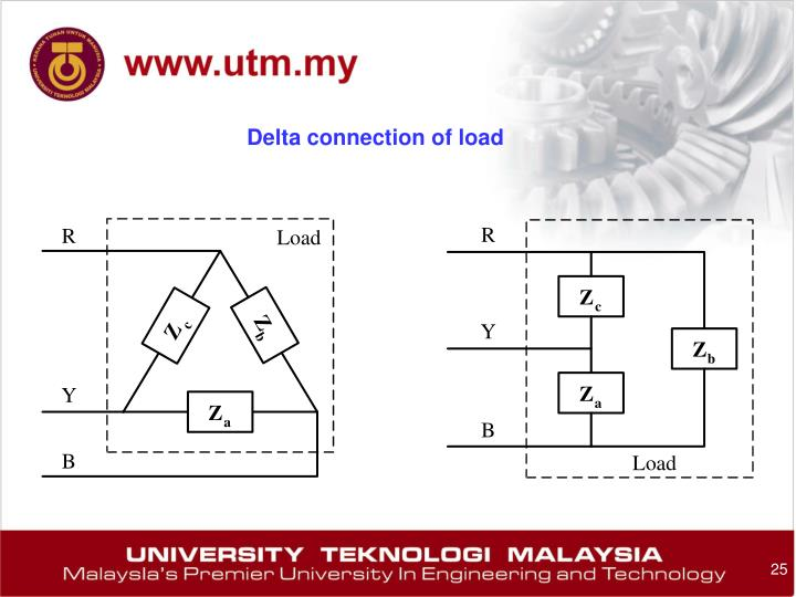 Delta connection of load