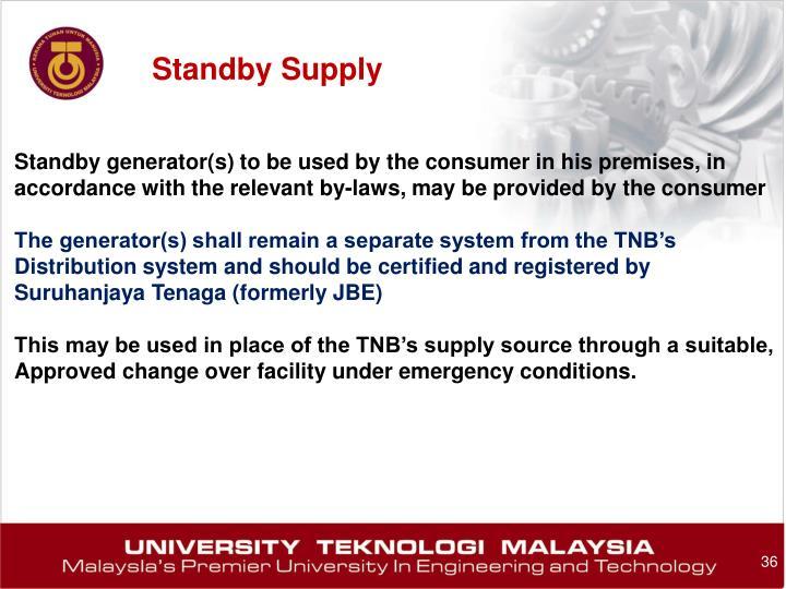 Standby Supply