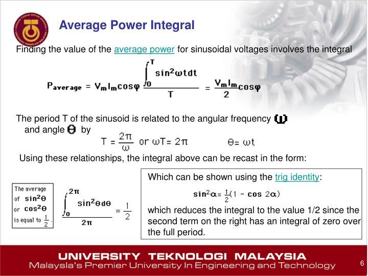 Average Power Integral
