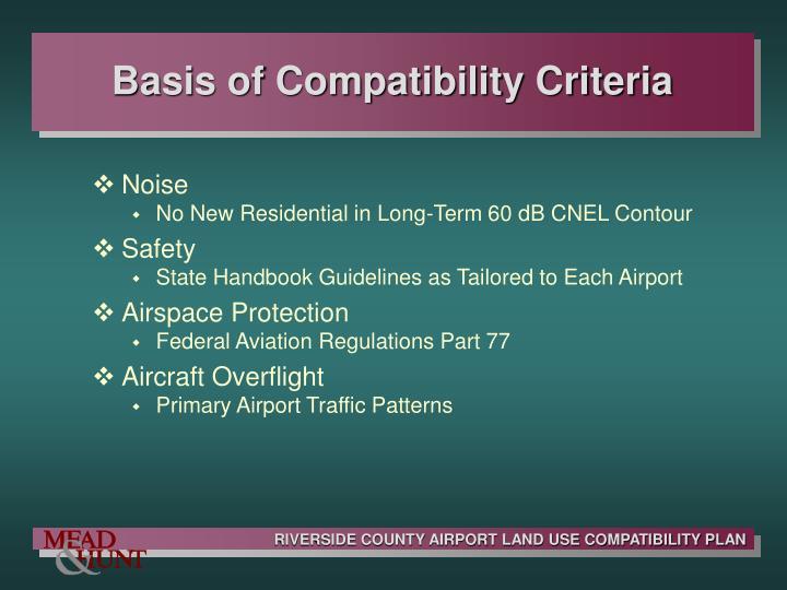 Basis of Compatibility Criteria