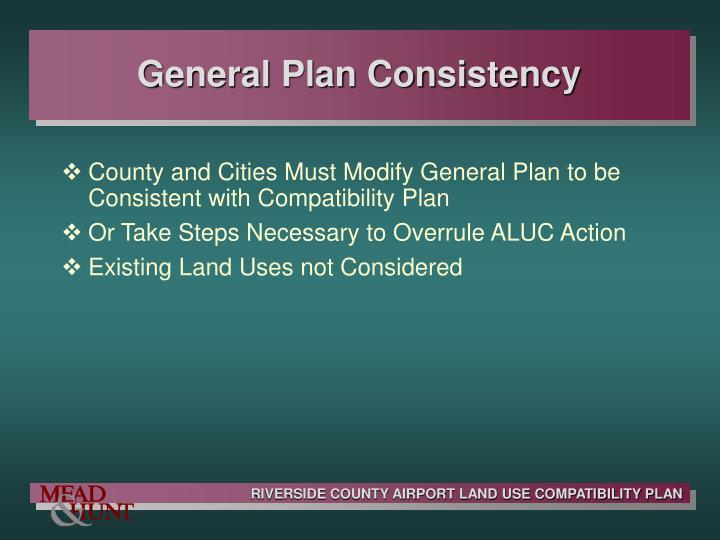General Plan Consistency