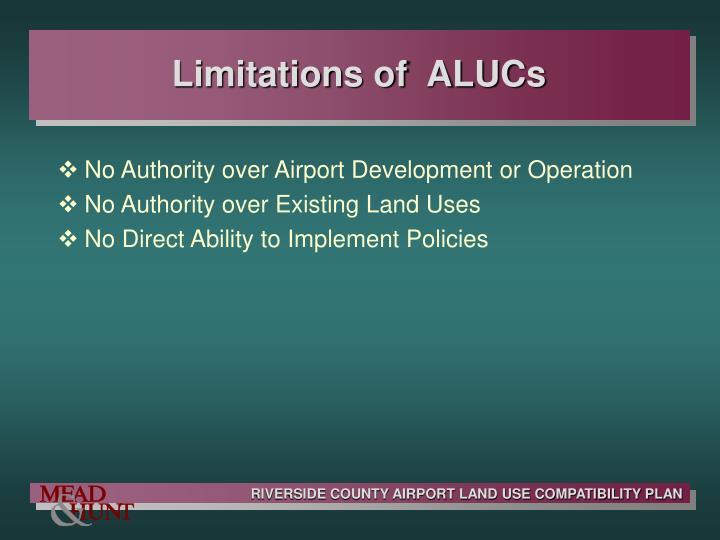Limitations of  ALUCs