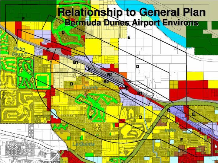 Relationship to General Plan
