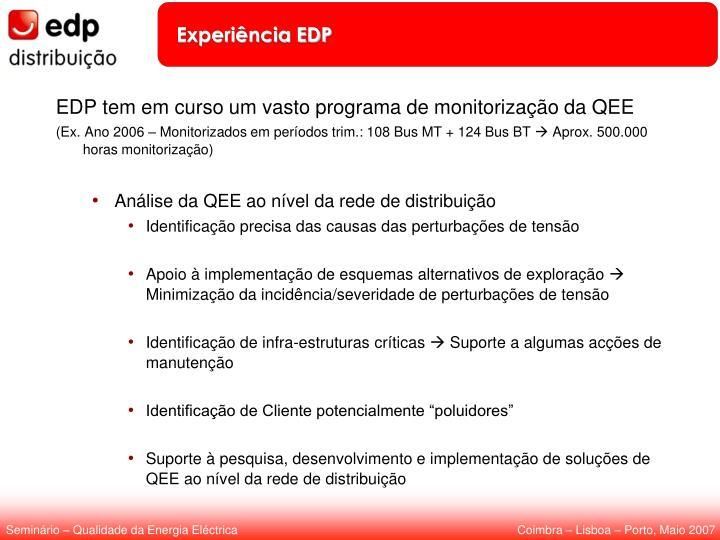 Experiência EDP
