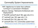 commodity system improvements4