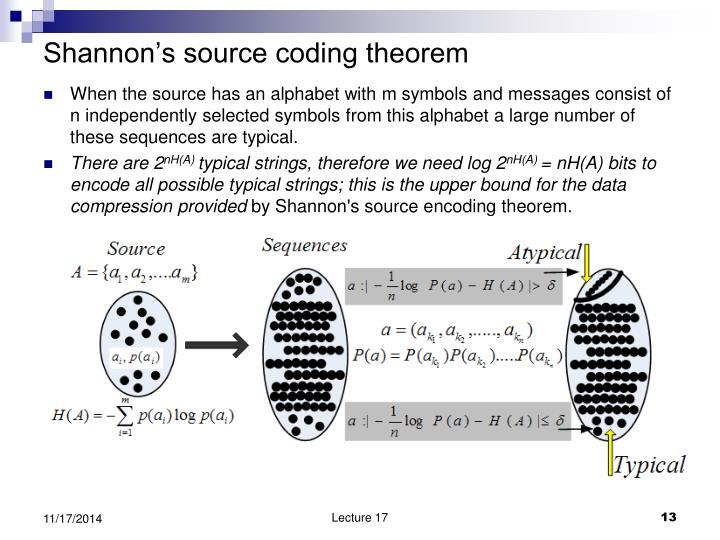 Shannon's source coding theorem