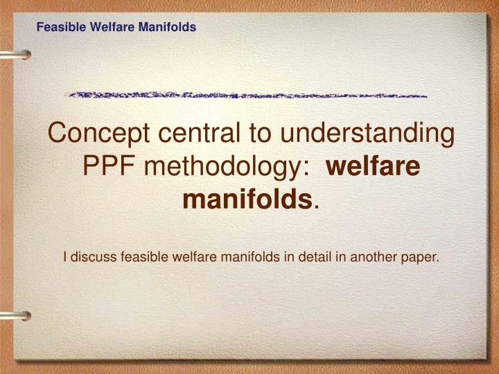 Feasible Welfare Manifolds