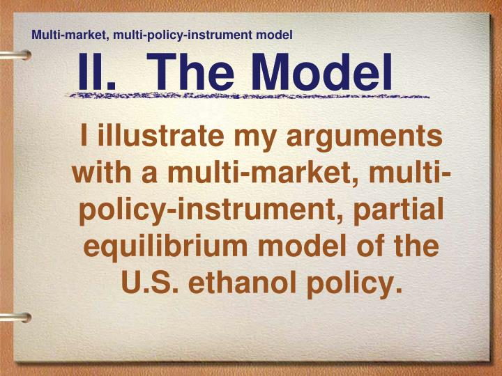 Multi-market, multi-policy-instrument model