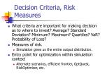 decision criteria risk measures