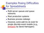examples posing difficulties for spreadsheets