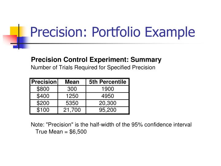 Precision: Portfolio Example