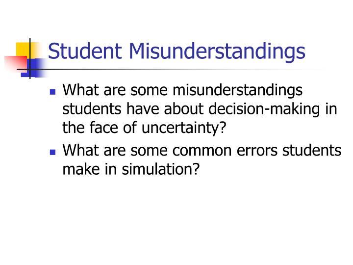 Student Misunderstandings