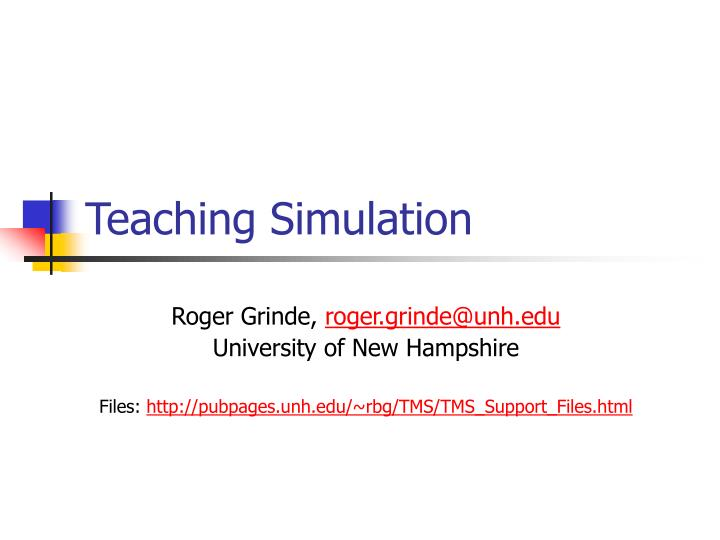 teaching simulation