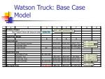 watson truck base case model