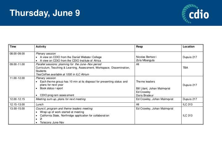 Thursday, June 9