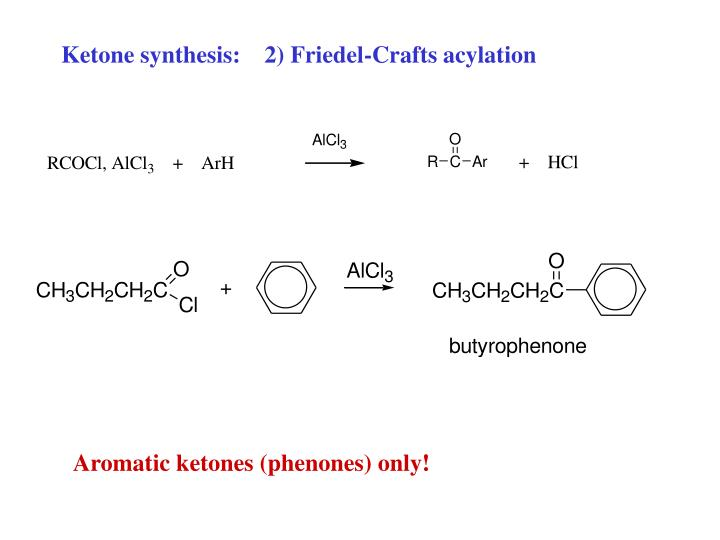 Ketone synthesis:    2) Friedel-Crafts acylation