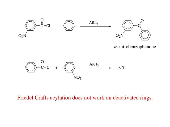 Friedel Crafts acylation does not work on deactivated rings.