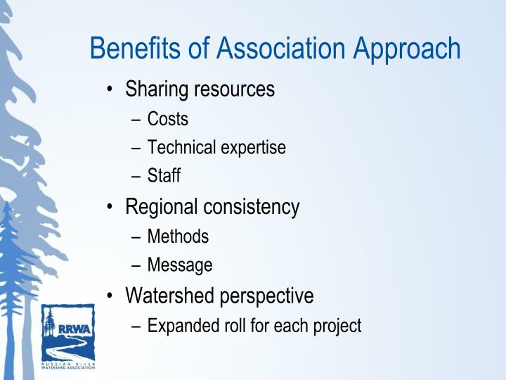 Benefits of Association Approach