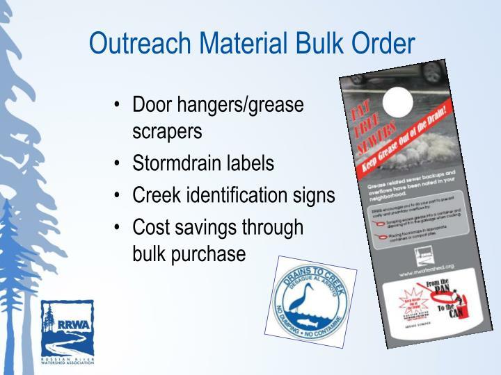 Outreach Material Bulk Order