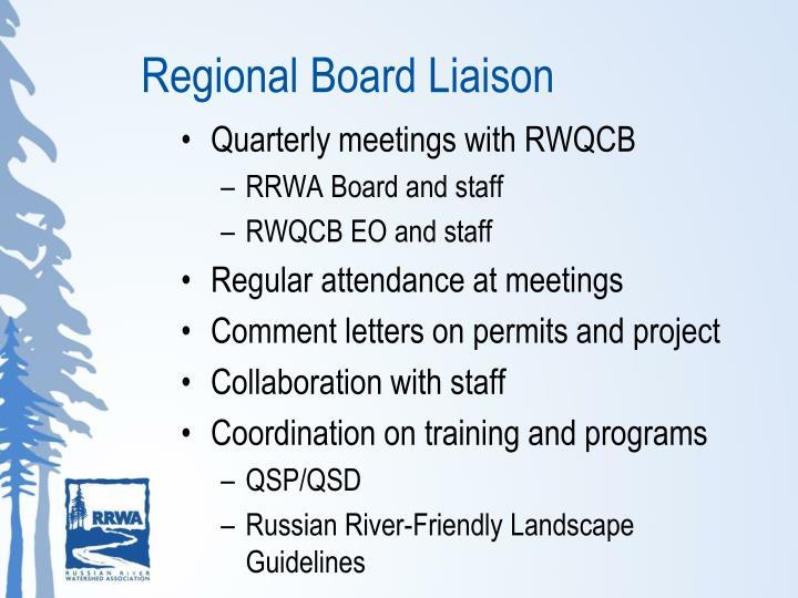 Regional Board Liaison