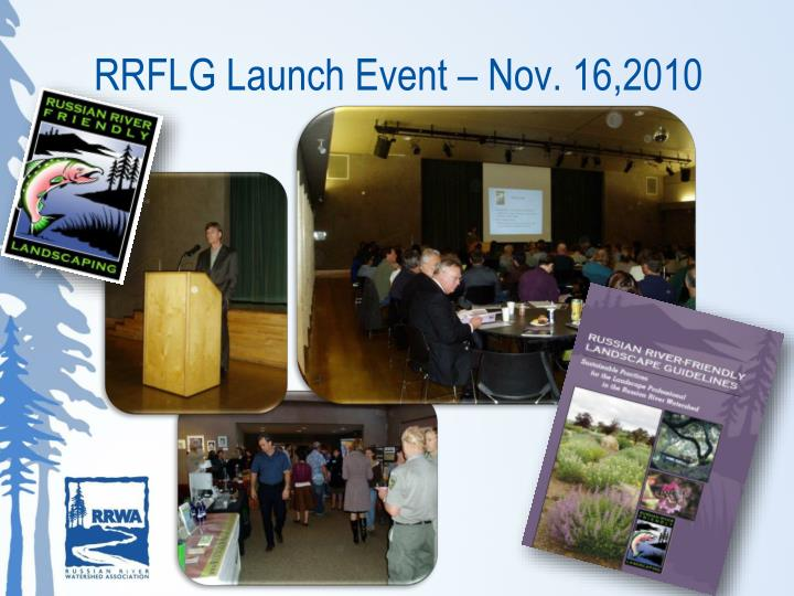 RRFLG Launch Event – Nov. 16,2010