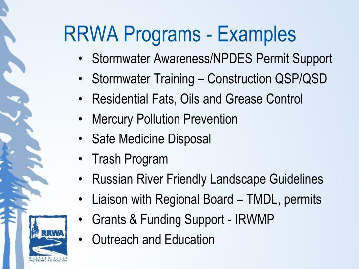 RRWA Programs - Examples