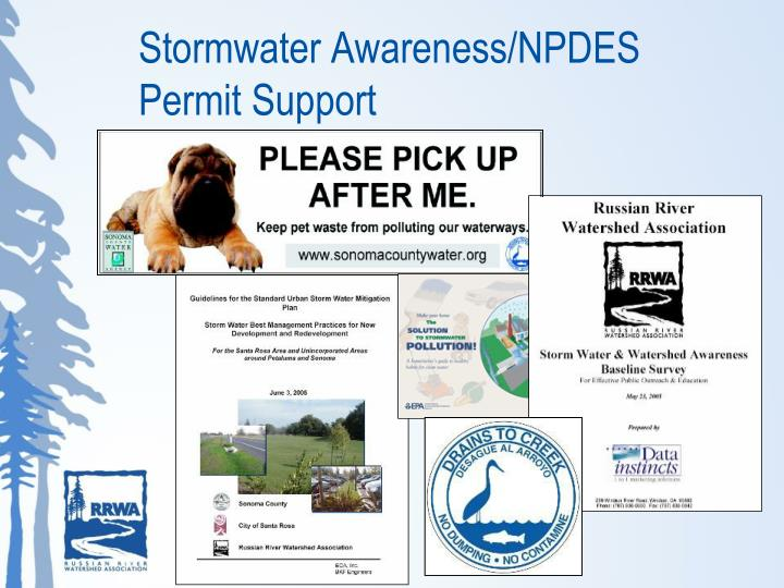 Stormwater Awareness/NPDES Permit Support