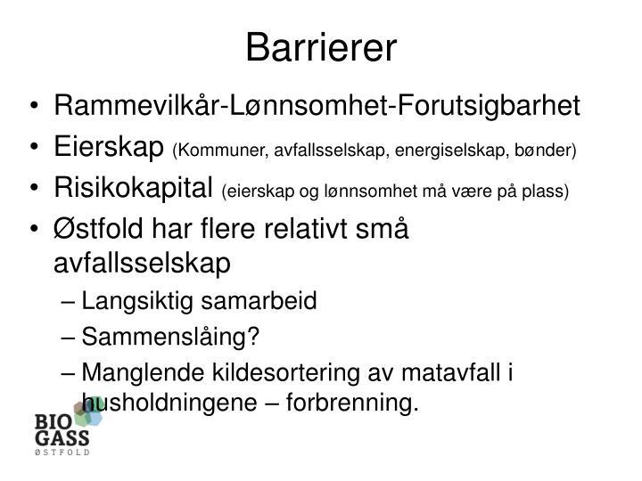 Barrierer