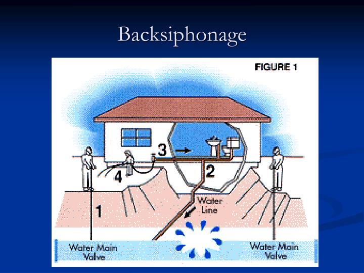 Backsiphonage