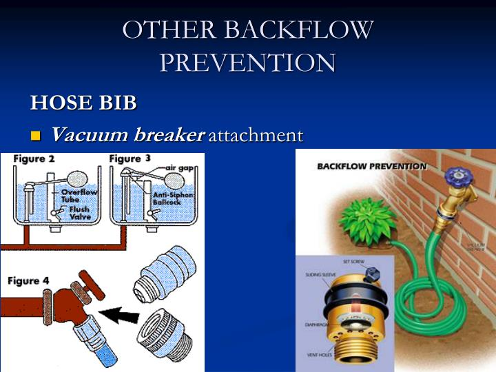 OTHER BACKFLOW PREVENTION