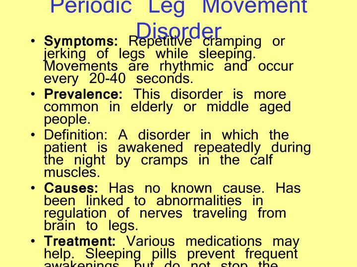 Periodic Leg Movement Disorder