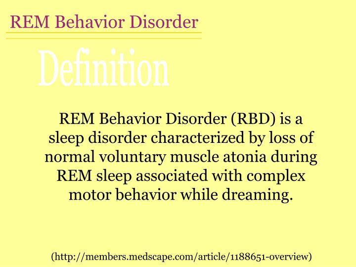 REM Behavior Disorder