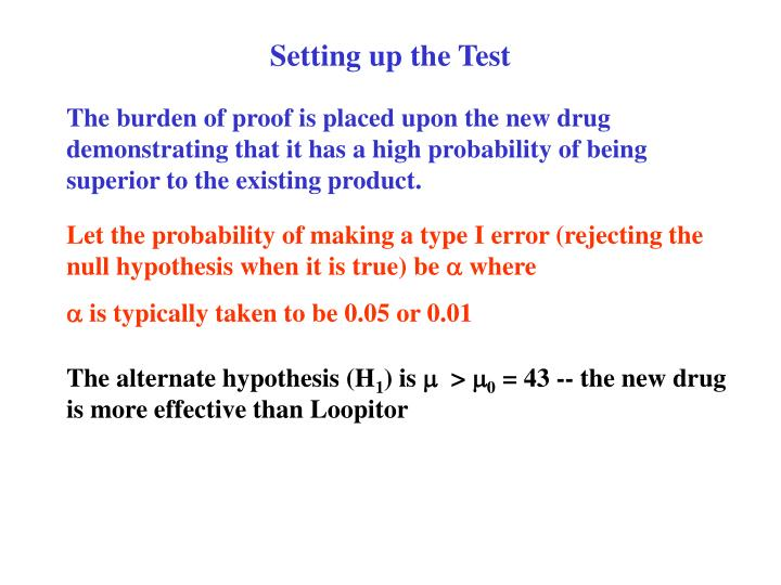 Setting up the Test