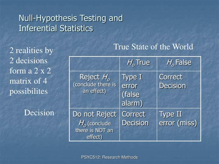 Null-Hypothesis Testing and Inferential Statistics