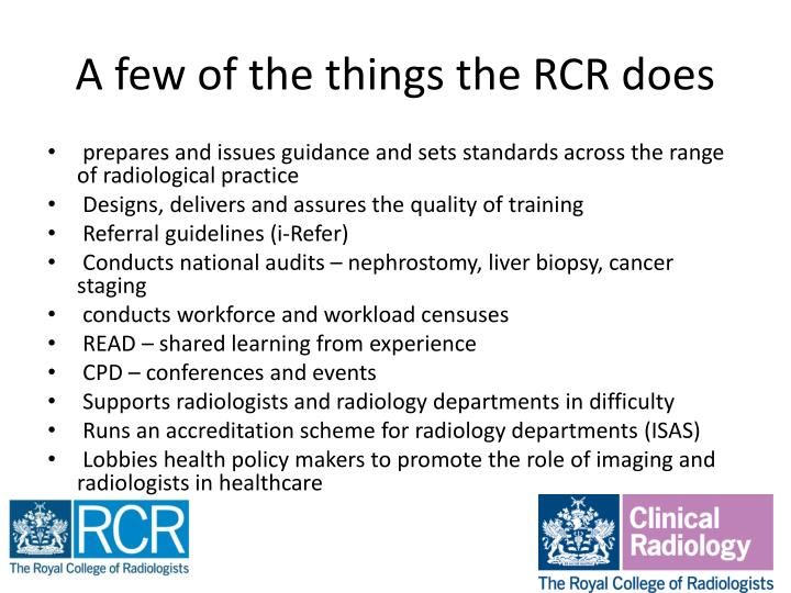 A few of the things the RCR does