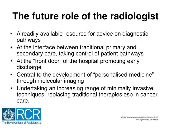 The future role of the radiologist