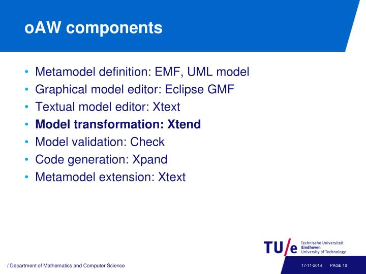 oAW components