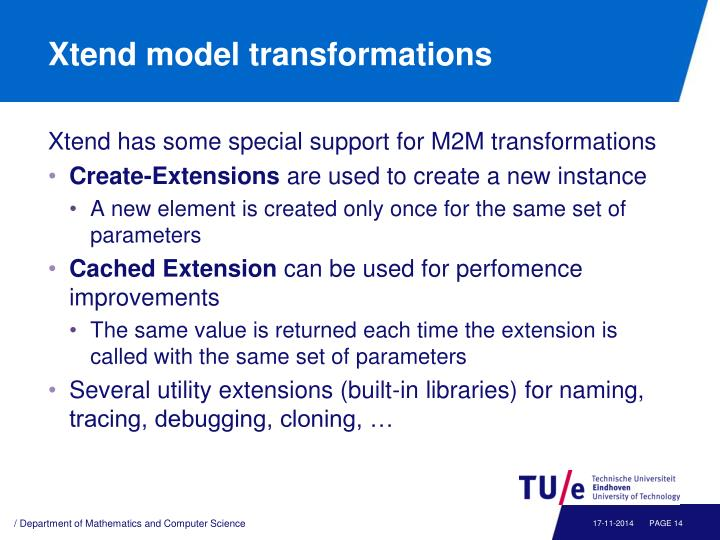 Xtend model transformations